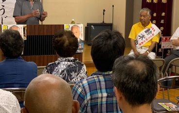 選挙戦、5日目夜の個人演説会は、生出の赤石・松場そして富田にて開催いたしました