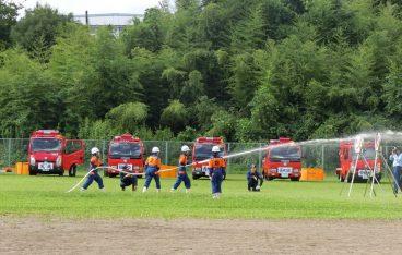 仙台市太白消防団特別点検が開催され、普段の訓練の成果をご披露しておりました