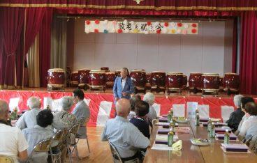 上野山町内会敬老会に出席し、挨拶をいたしました。