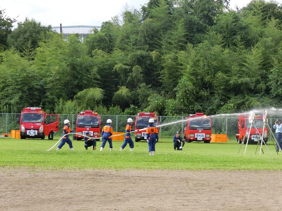 仙台市太白消防団特別点検が開催され、普段の訓練の成果をご披露しておりました。