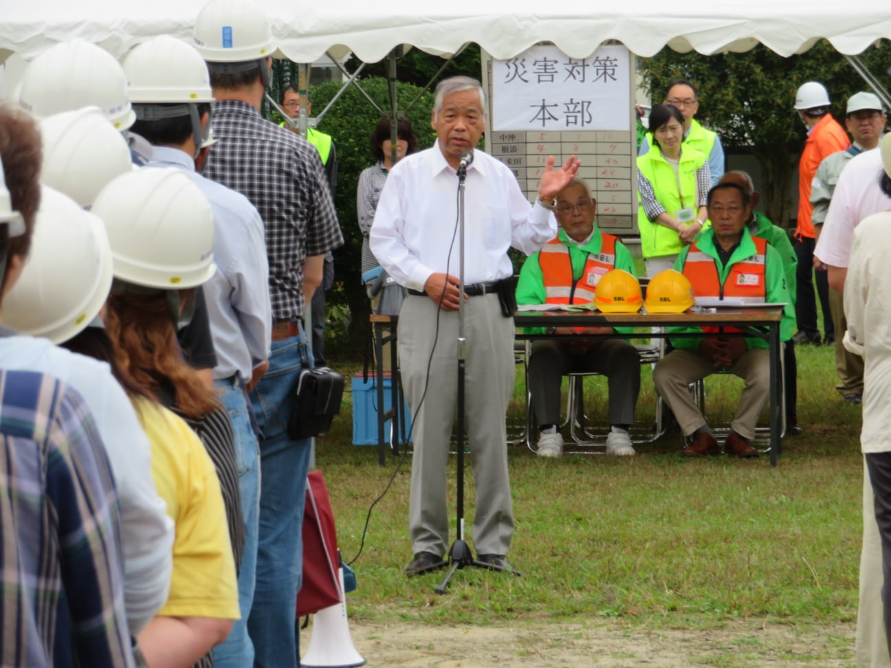 仙台市太白区総合防災訓練その後、東北方面隊の59周年の記念式典