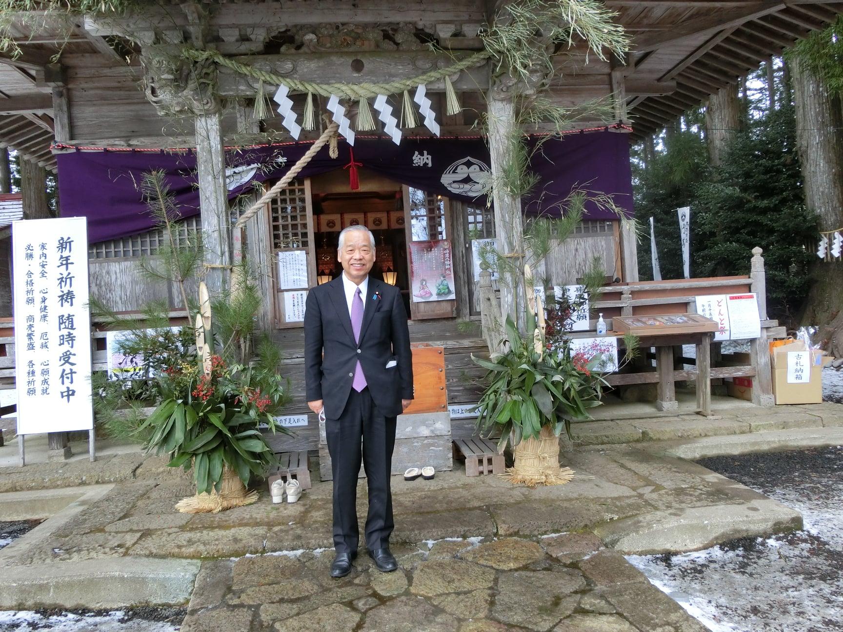 令和3年1月3日 坪沼神社にて新年祈祷をおこないました。