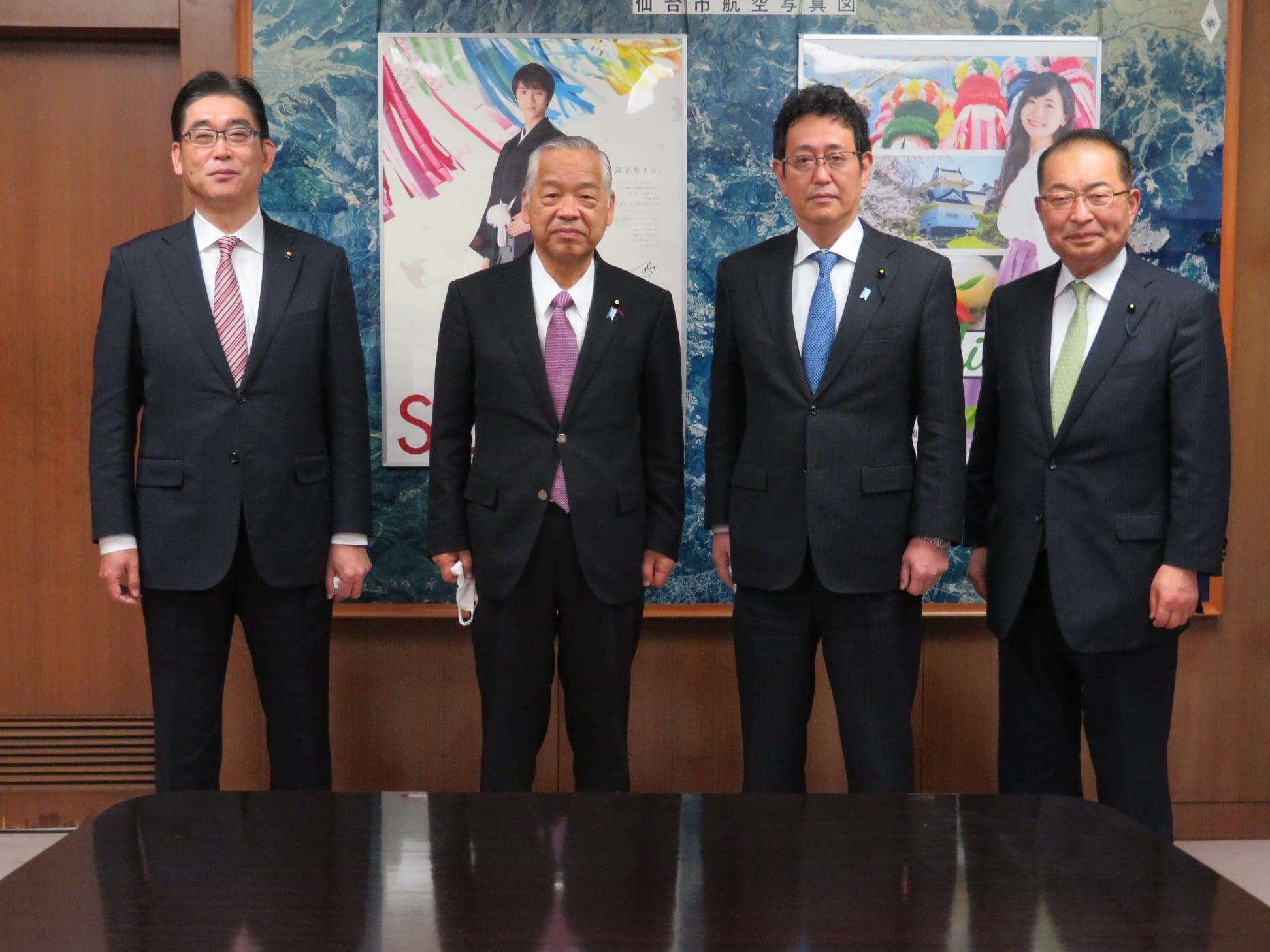 宮城県議会 石川議長、齋藤副議長が新年のご挨拶に来訪されました。