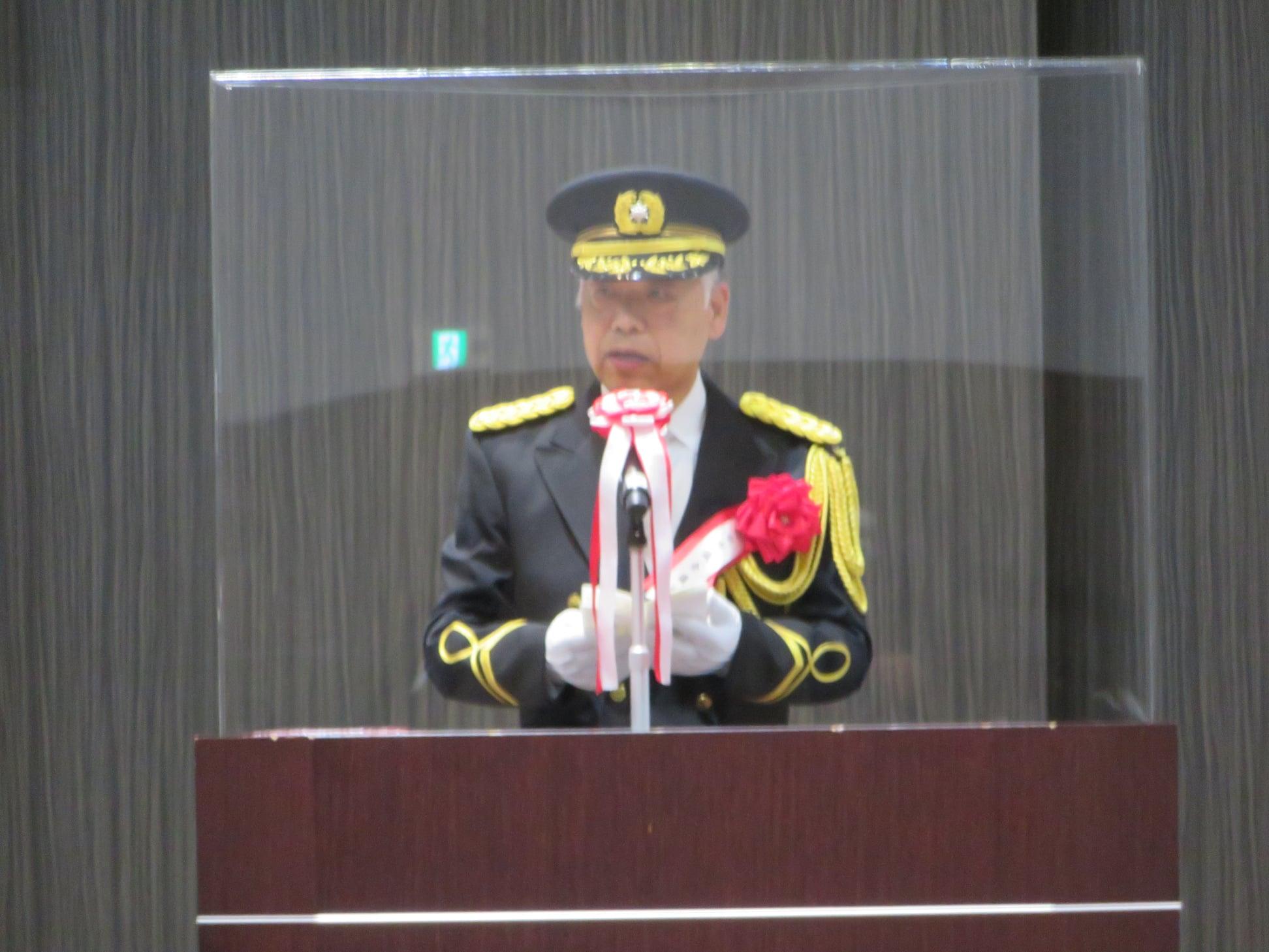 仙台市消防出初式に参列しました。