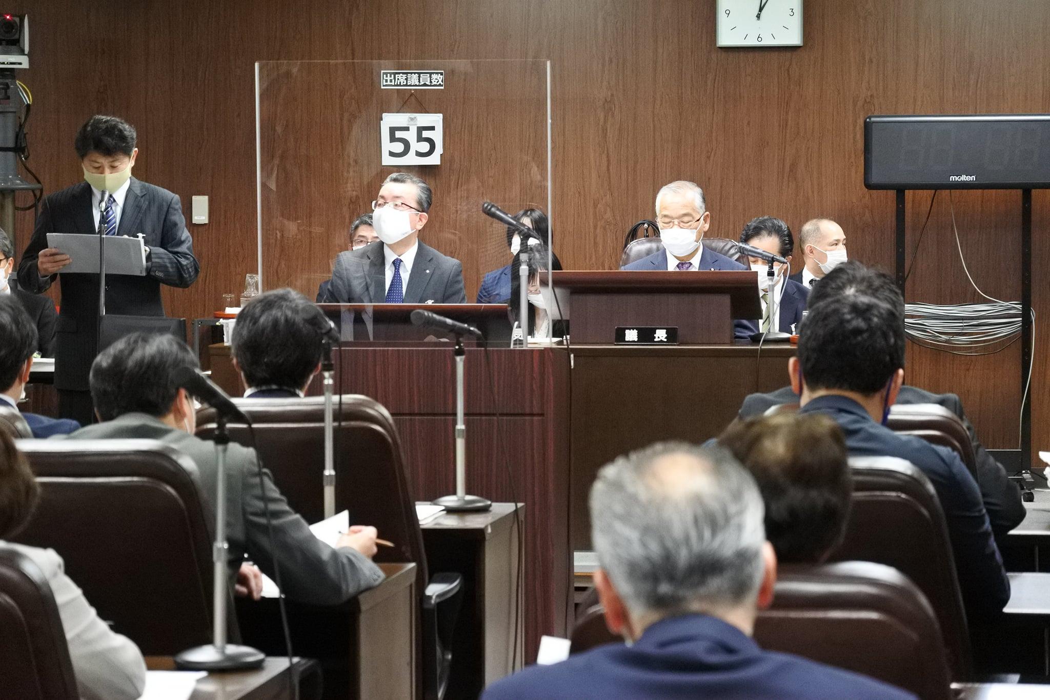 令和3年2月15日、仙台市議会第1回定例会が再開し、代表質問が始まりました。
