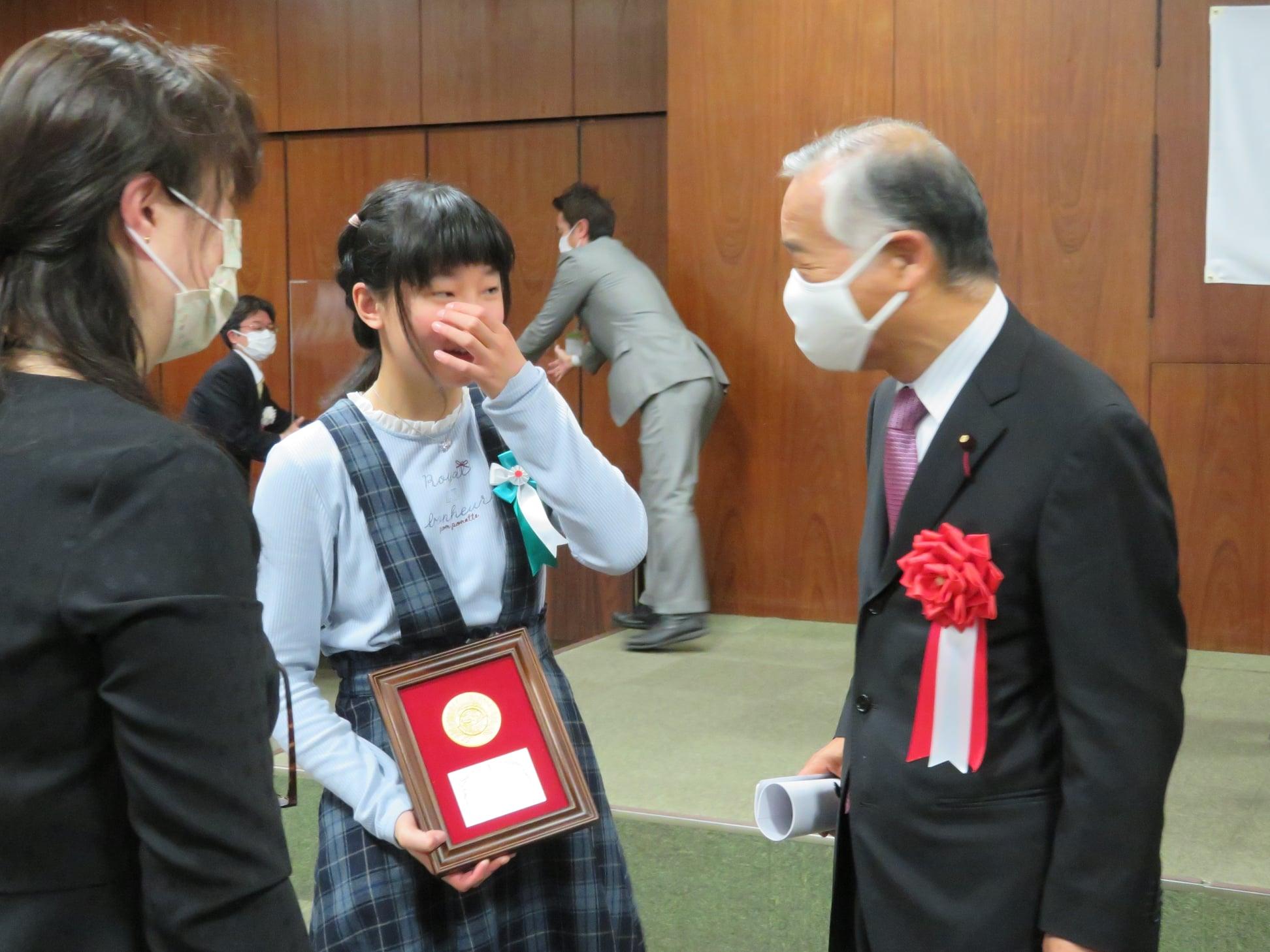 令和3年3月13日「令和2年仙台市スポーツ賞」表彰式に出席しました。