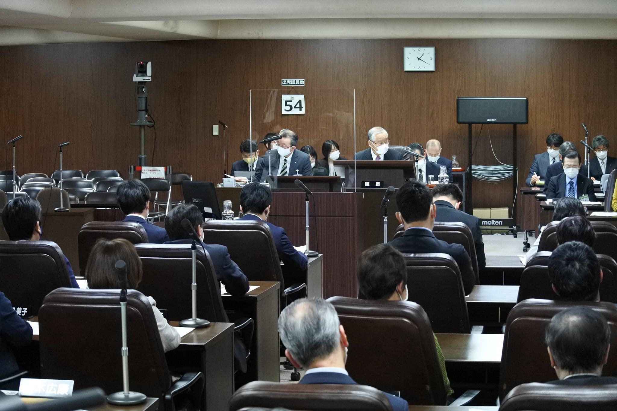 令和3年3月11日、令和3年第1回定例会の最終日をむかえ提出された全ての議案について可決され閉会しました。