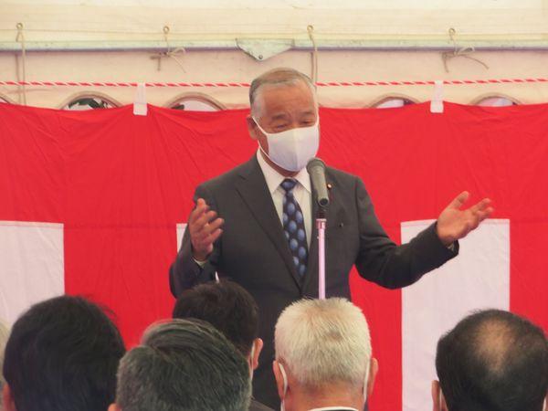 令和3年3月29日 特別養護老人ホーム(仮)西多賀みちのく荘の新築工事の地鎮祭に出席しました。