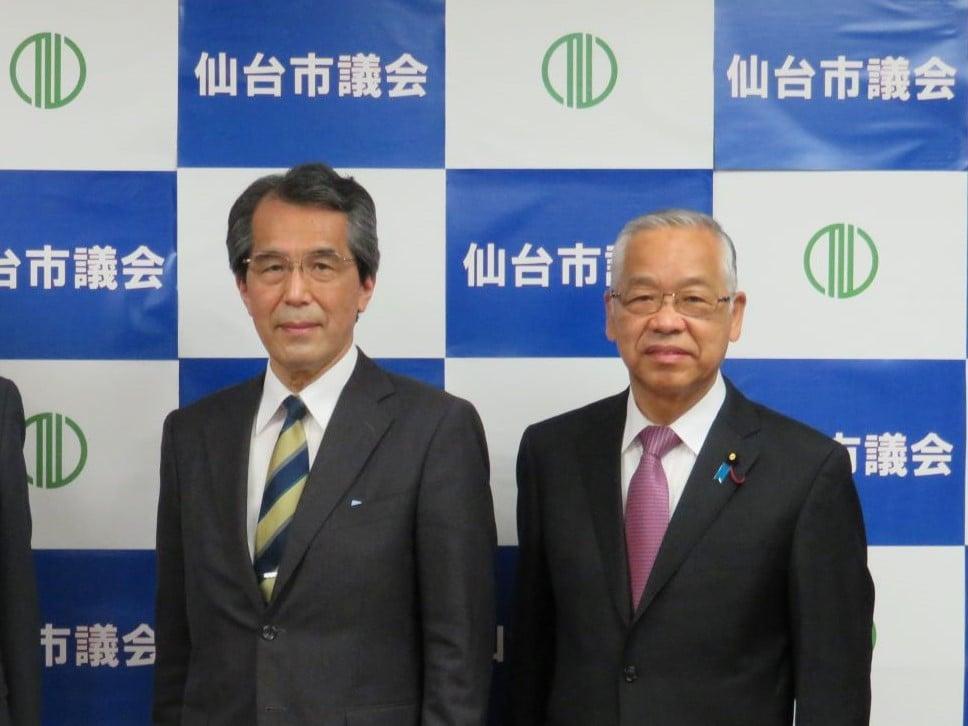 宮城県公安委員会委員に就任をされた山口哲男氏が就任挨拶のため来訪されました。