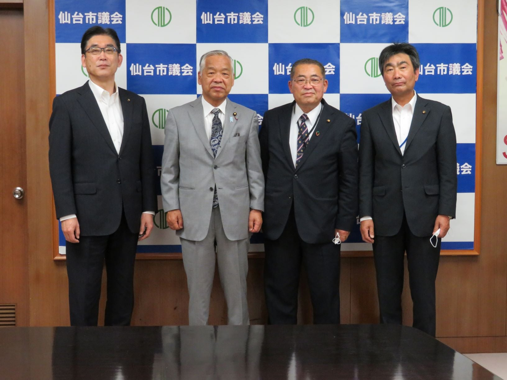 栗原市議会の佐藤千昭議長、高橋勝男副議長が就任ご挨拶に来訪されました