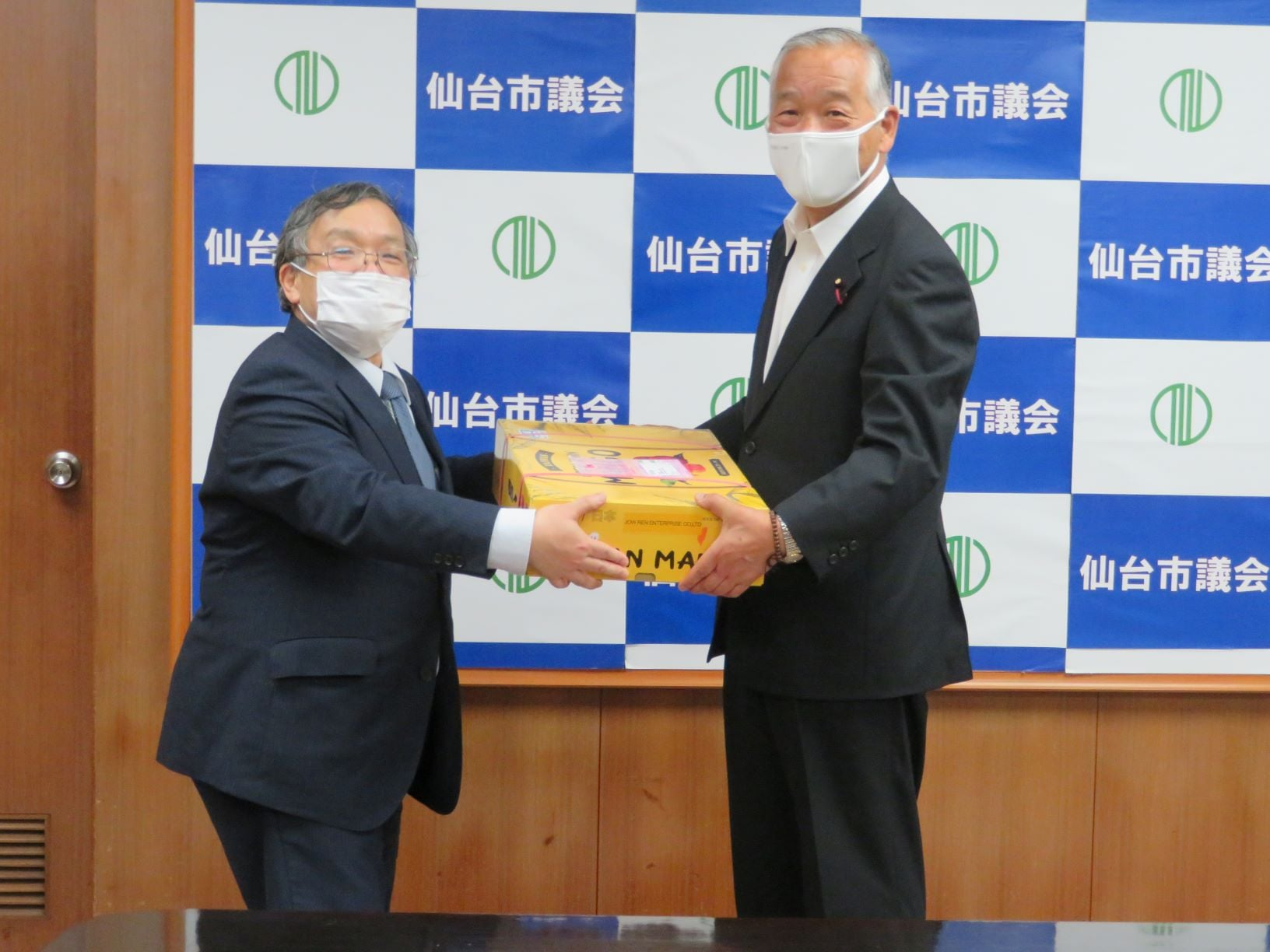 令和3年6月28日 仙台市障害者福祉協会の阿部一彦会長(日本身体障害者団体連合会会長)、同協会事務局長が野田譲仙台市議会議員の同道のもと来訪されました