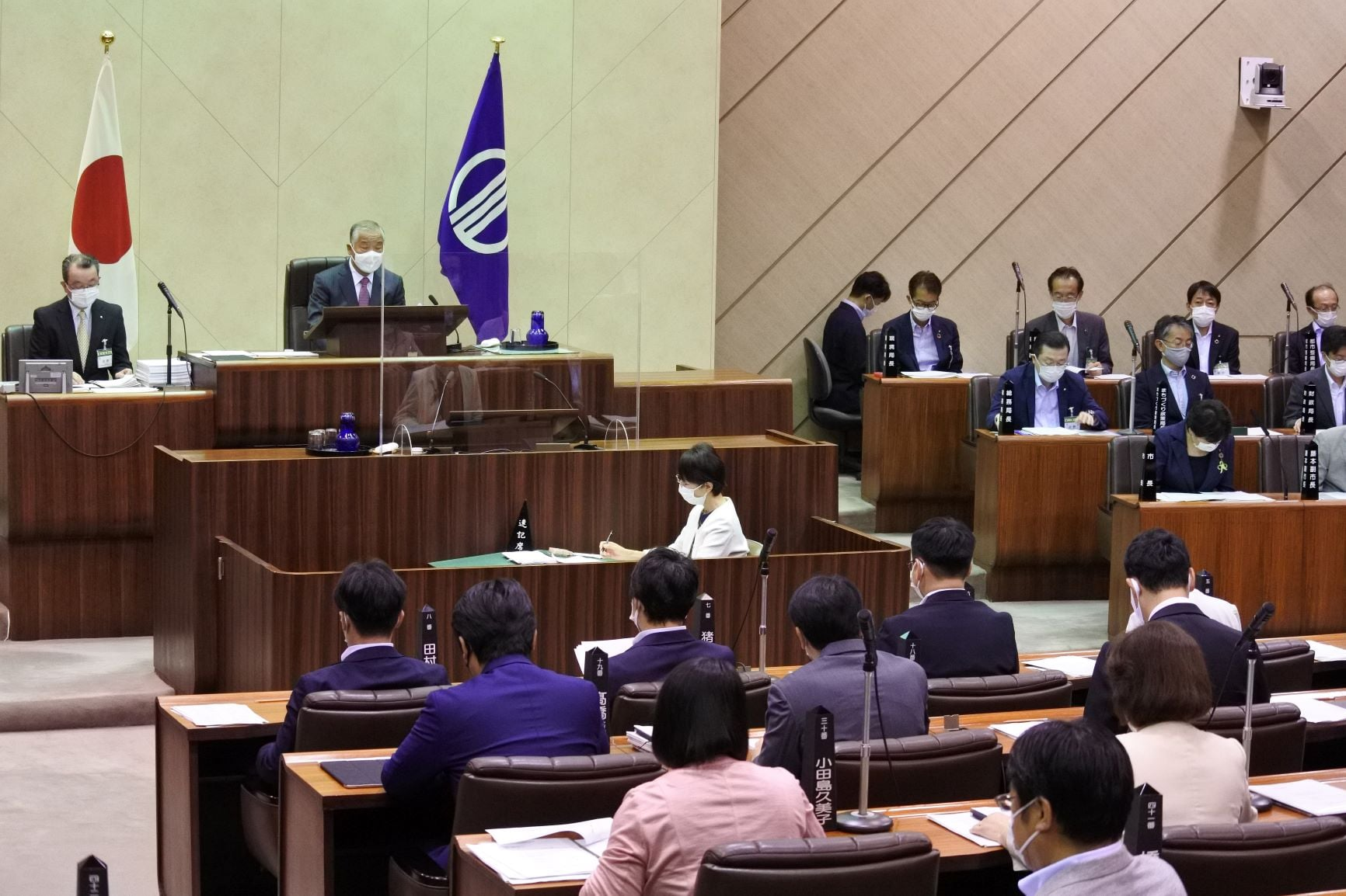 令和3年9月9日 市議会議長としての最後の定例会の初日を迎え、会議の中で辞任が許可されました。