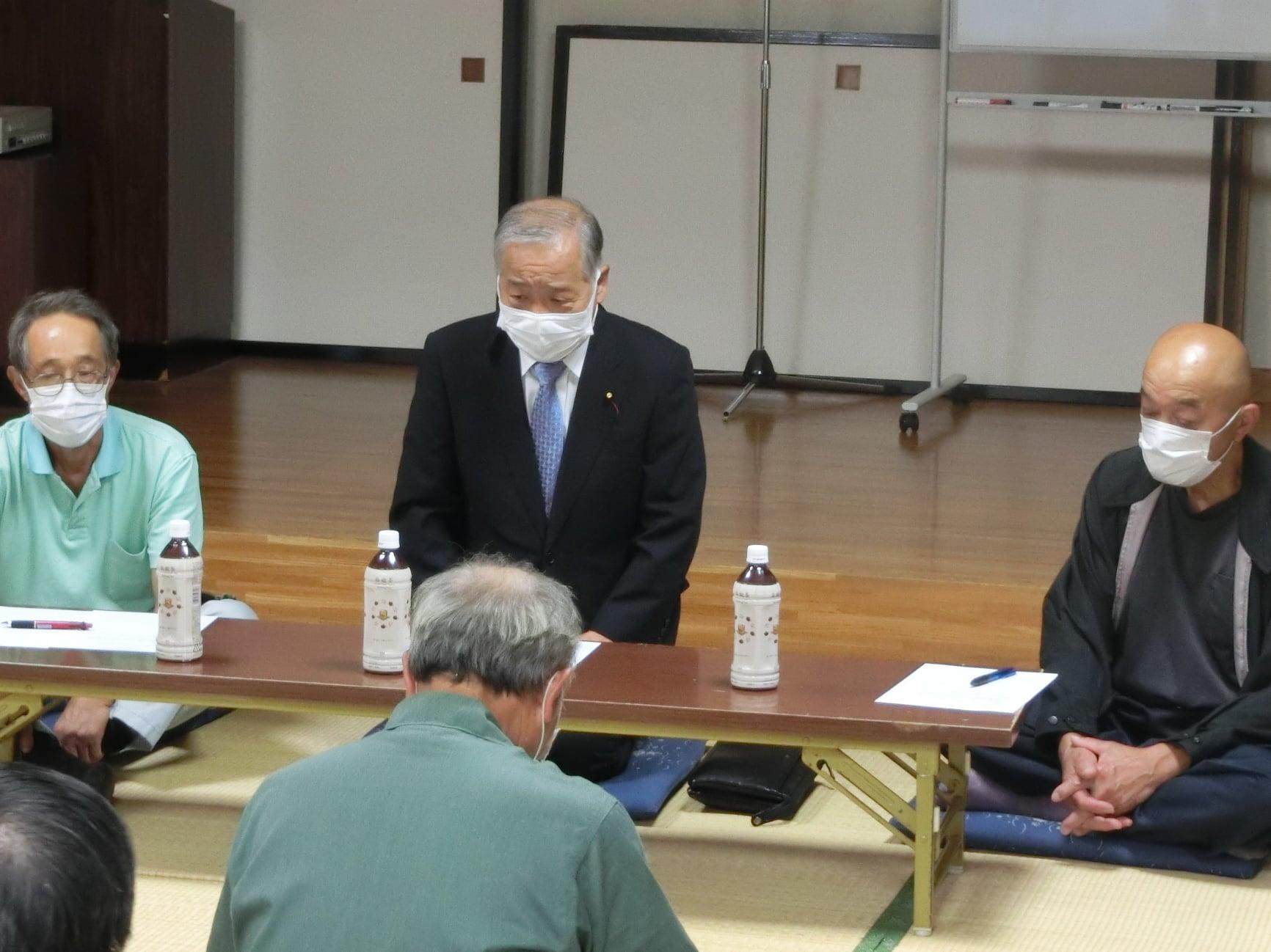 令和3年9月27日 山田地区水利組合との農業基盤等改良のための懇談会に出席しました。